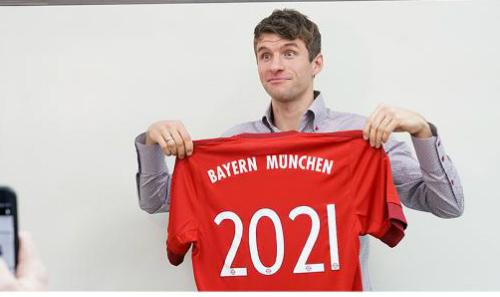 Muller cam kết tương lai lâu dài với Bayern . Ảnh: FCB.