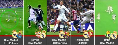Những pha bóng gây tranh cãi của Ronaldo.