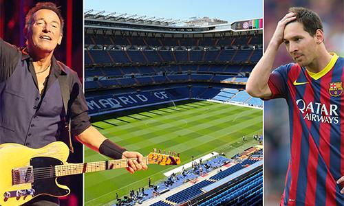 Real đồng ý cho Springsteen mượn sân và Barca sẽ không có cơ hội nâng cao một danh hiệu trên thánh địa của đối phương.